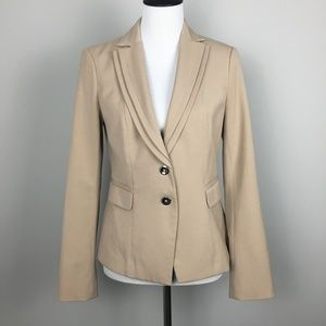 white house black market cream tan blazer